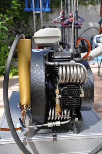 Close up of the compressor
