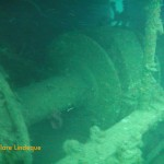 Large winch behind the superstructure