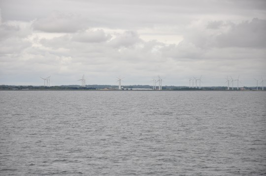 WInd farm off the coast of Denmark