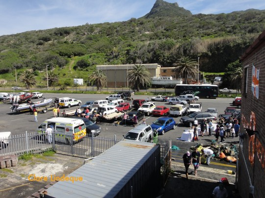 The parking area at Hout Bay slipway, seen from the NSRI Station 8 building