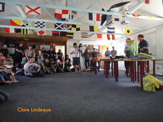 Prizegiving inside NSRI Station 8