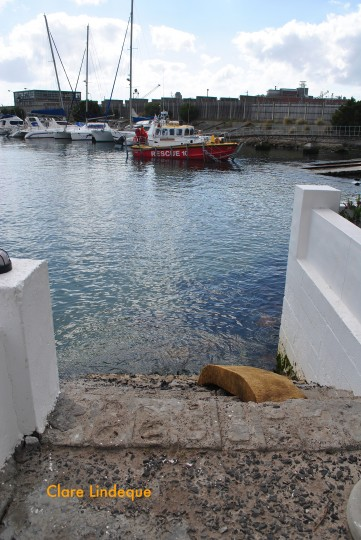 The steps into the yacht basin at FBYC