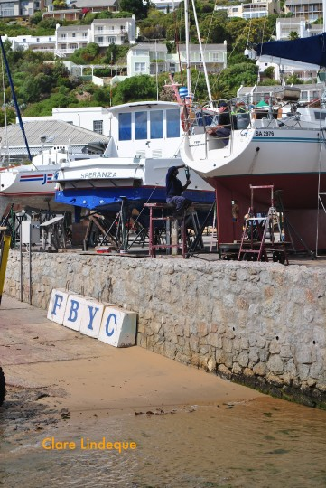 The boat yard at False Bay Yacht Club