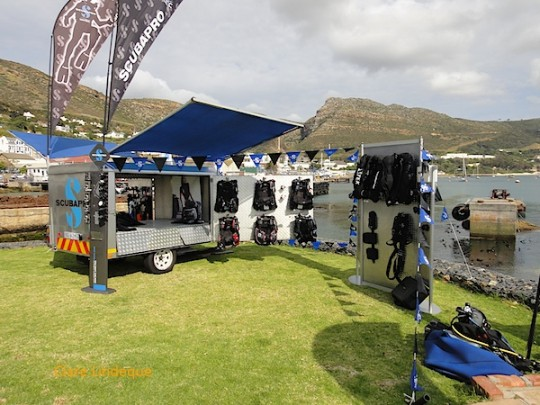The ScubaPro display stands