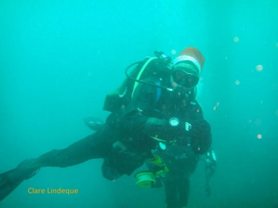 Santa diving the Aster