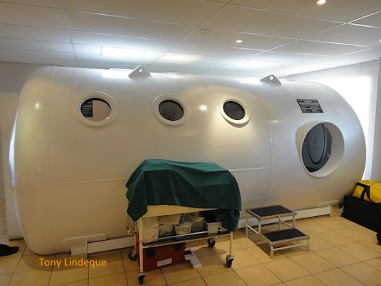 Exterior of the hyperbaric chamber
