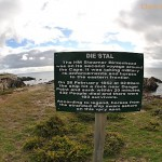 Sign marking the location where horses from the Birkenhead shipwreck came ashore