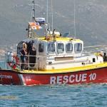 The main Simon's Town rescue boat of the NSRI