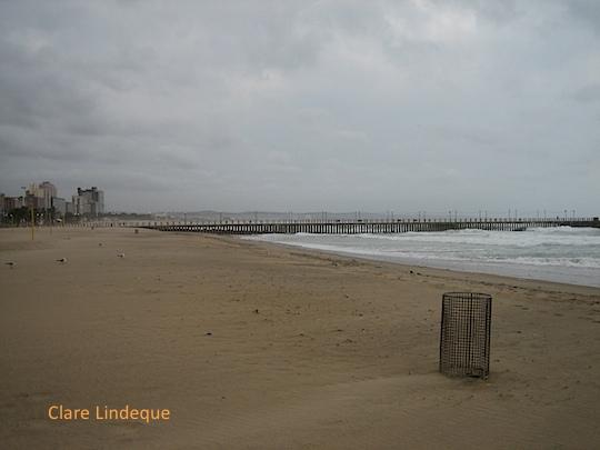 Durban beach on a windy day