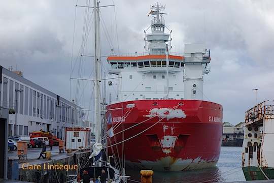 SA Agulhas II berthed in Cape Town
