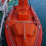 One of the life rafts