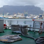 Table Mountain seen from the rear lower deck of the SA Agulhas II