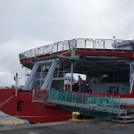 The stern of the SA Agulhas