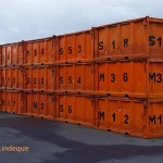 Containers on the dock at the Department of Environmental Affairs building