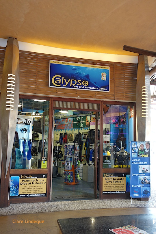 Calypso dive shop at uShaka Marine World