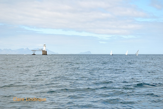 Yachts near Roman Rock lighthouse