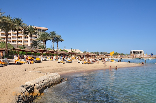 The beach at the Marriott Hotel in Hurghada