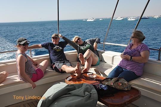 Me, Christo, Kate and Veronica on the sundeck