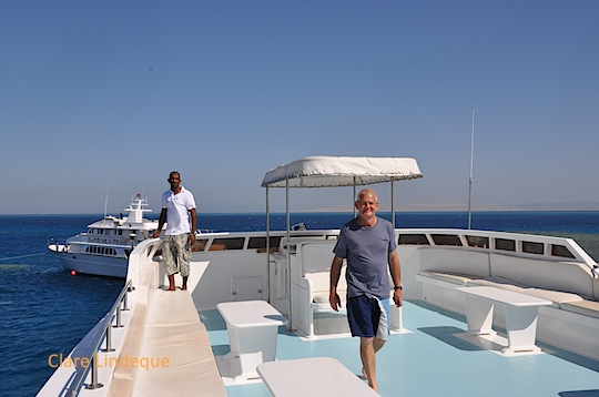 Captain Mohammed and Tony on the fly deck