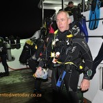 Christo before a night dive