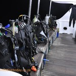 Our gear in its place on the dive deck