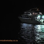 Liveaboard at Bluff Point at night