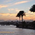Sunset at Hurghada marina
