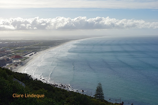 Muizenberg beach seen from Boyes drive