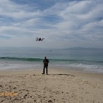 Flying on the beach