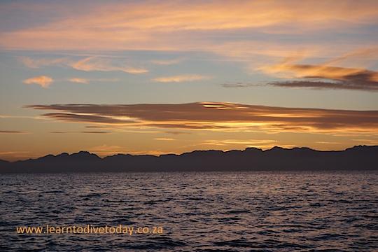 Sunrise across False Bay