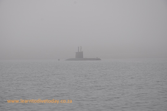Submarine in the mist