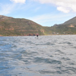 Stand up paddle boarder in Smitswinkel Bay