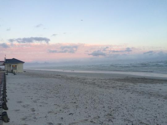 Muizenberg Beach in a howling wind
