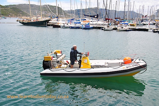 Simon's Town boating on a windless day