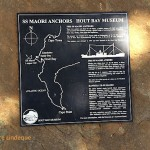 Plaque describing the wreck and location of the SS Maori
