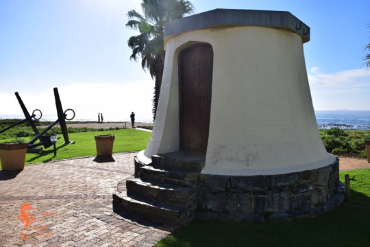 The base of the Mouille Point lighthouse at Granger Bay