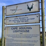 Cape Agulhas lighthouse signage