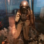Old fashioned diving helmet exhibit