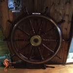 Ship's wheel of the SS Kadie