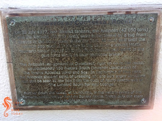 Plaque commemorating wreck of the Antipolis