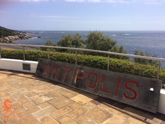 Plaque and Antipolis nameplate at the Twelve Apostles