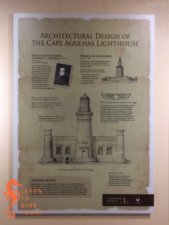 Poster display about the Cape Agulhas lighthouse