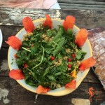 Couscous salad with sea lettuce and rocket