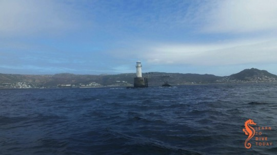 Roman Rock lighthouse on Wednesday