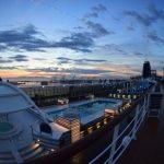 View across MSC Sinfonia at dawn