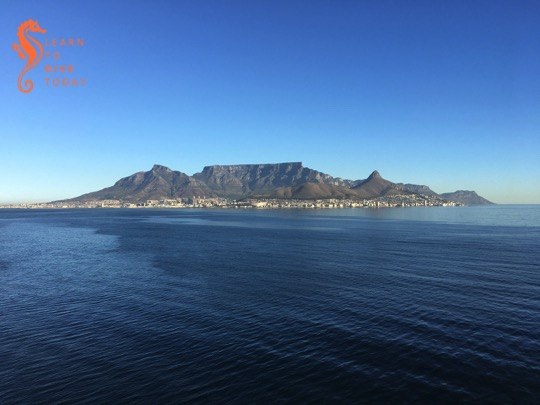 View of Table Mountain as we were leaving Cape Town