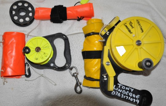Reels and surface marker buoy (SMB)