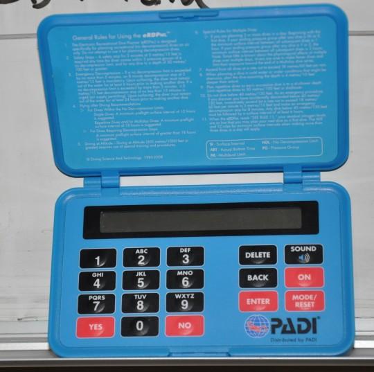 PADI Electronic Dive Planner