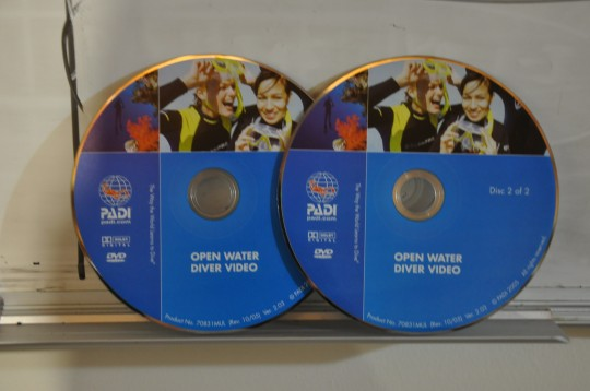 PADI Open Water Training DVDs