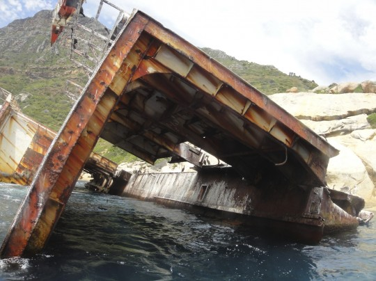 Collapsed stern